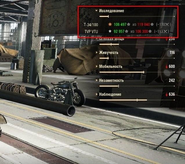 Мод Танкопыт 1.5.1 - расчёт количества опыта и боёв до следующего танка в ангаре