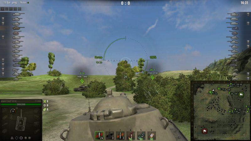 Улучшенный стандартный прицел для World of Tanks 1.8.0.0