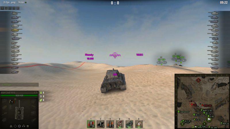 Малиновый прицел для World of Tanks 1.4.1