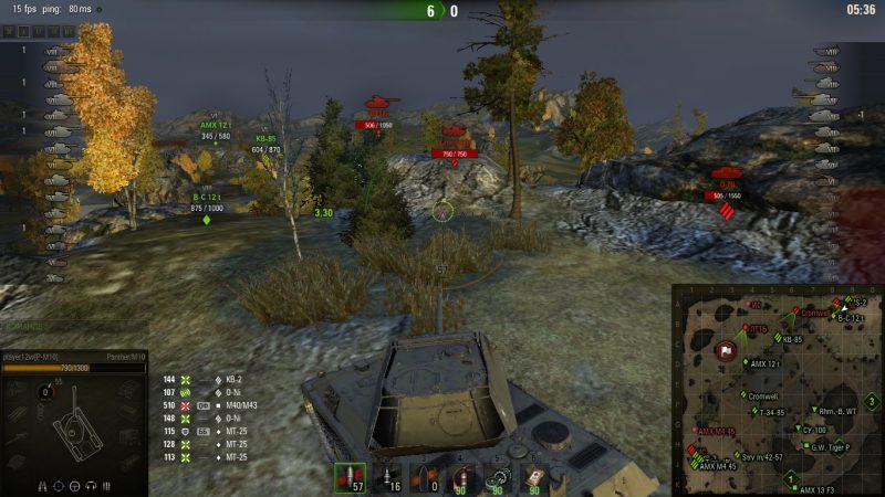 Мод: Направление стволов на миникарте World of Tanks 1.6.0 / 1.5.1.3
